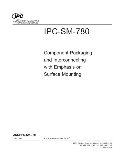 ANSI/IPC-SM-780 Component Packaging and Interconnecting with
