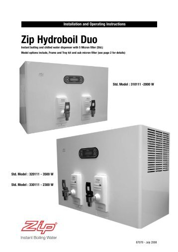 Zip Hydroboil Duo - Water Filter System, Water Purifier, Instant Hot ...