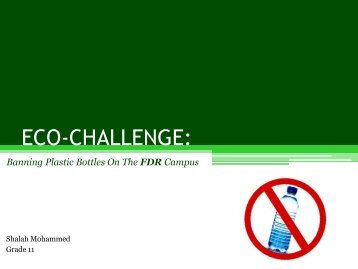 plastic bottle presentation