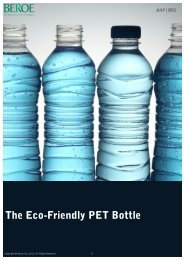 The Eco-Friendly PET Bottle - Beroe Inc