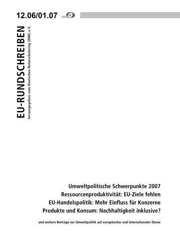 Einfluss für Konzerne Produkte und Konsum - EU-Koordination