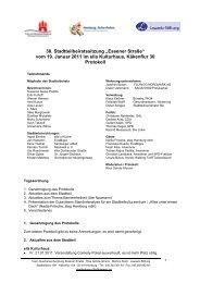 """38. Stadtteilbeiratssitzung """"Essener Straße"""" vom 19 ... - Hohenhorst"""