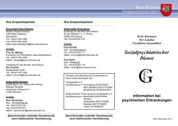Sozialpsychiatrischer Dienst Information bei ... - Kreis Stormarn