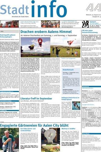 Engagierte Gärtnereien für Aalen City blüht Drachen ... - Stadt Aalen