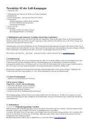 Newsletter 02 der Lidl-Kampagne