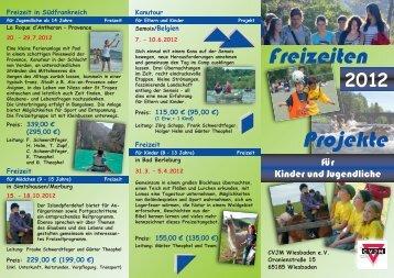 Folder Freizeiten 2012:Layout 1.qxd - CVJM Wiesbaden