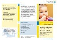 Angebote für Familien Babykost - schnell und einfach zubereitet