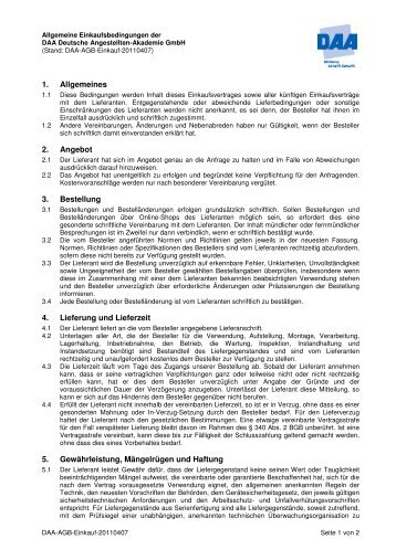 Download AGB Einkauf - DAA