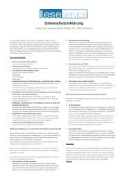 Datenschutzerklärung - Abopool.de