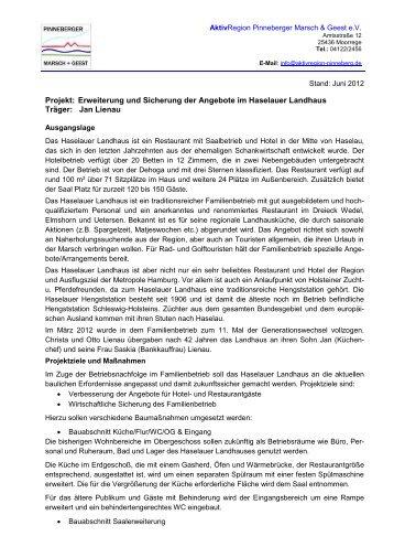 Projekt: Erweiterung und Sicherung der Angebote im Haselauer ...