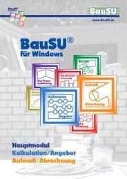 Kalkulation/Angebot - Bau-Software Unternehmen GmbH
