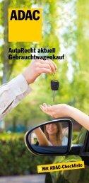 AutoRecht aktuell Gebrauchtwagenkauf - ADAC