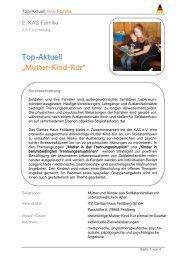 """Top-Aktuell """"Mutter-Kind-Kur"""" - KAS"""