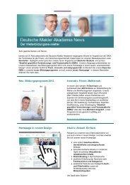 6/2012 - Deutsche Makler Akademie DMA