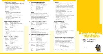 Angebote der - Stadtjugendring Stuttgart eV