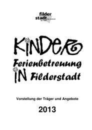 Broschüre 2012 - Stadt Filderstadt