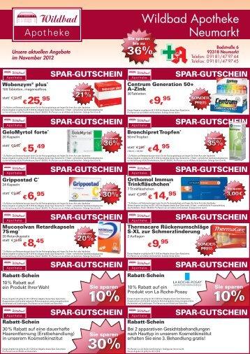 Unsere aktuellen Angebote im November 2012 - Wildbad Apotheke