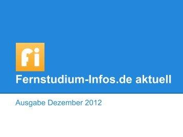 Fernstudium-Infos.de aktuell