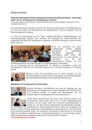 Dokumentation des Workshops - bremer und bremerhavener arbeit