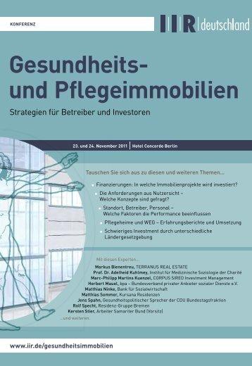 Gesundheits- und Pflegeimmobilien - IIR Deutschland GmbH
