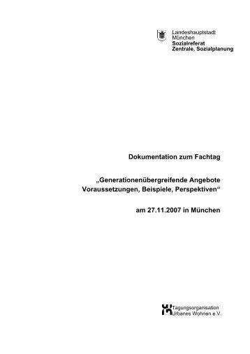 """Dokumentation zum Fachtag """"Generationenübergreifende Angebote ..."""