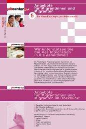 Angebote für Migrantinnen und Migranten - Jobcenter Bremen