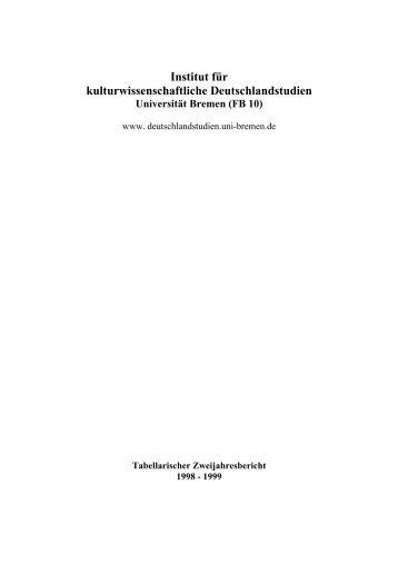 Institut für kulturwissenschaftliche Deutschlandstudien - Universität ...