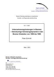 Unternehmensgründungen in Bremen - markt.forschung.kultur