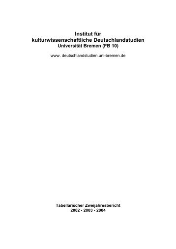 FB 10 - ifkud - Universität Bremen