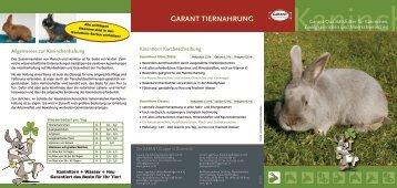 Garant-Qualitätsfutter für Kaninchen, Zwergkaninchen ... - Lagerhaus