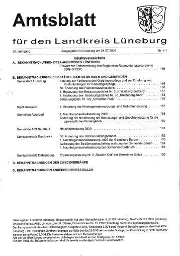 Amtsblatt Nr.07 vom 24.07.2009 (pdf 1 - Samtgemeinde Dahlenburg ...