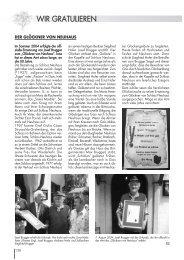 Ausgabe 01/2005 Wir gratulieren