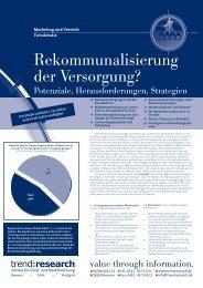 Rekommunalisierung der Versorgung? - trend:research