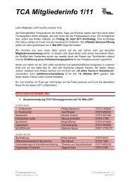 TCA Mitgliederinfo 1/11 - Tennisclub Ammerbuch e.V.