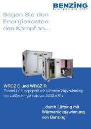 Produktinformation WRGZ C und WRGZ R - Benzing Ventilatoren ...