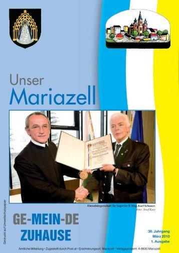 Standesamts- und Staatsbürger - Stadt Mariazell