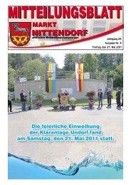 Die feierliche Einweihung der Kläranlage Undorf fand ... - Nittendorf