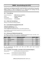 DMSB - Ausschreibung Kart 2012 - ADAC Motorsport