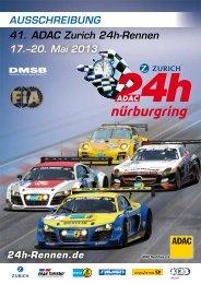 Ausschreibung 2013 - 24 Stunden Rennen Nürburgring
