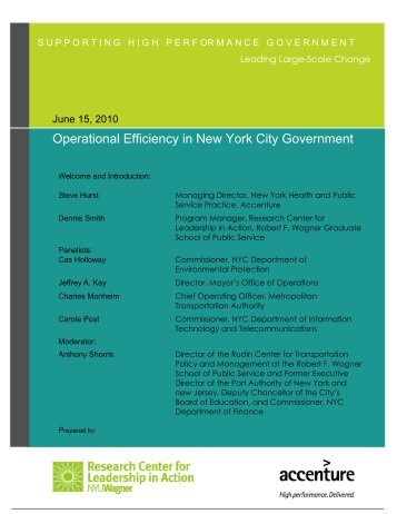 Operational Efficiency in New York City Government