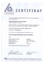 ZERTIFIKAT - Feigel Umwelt-Service GmbH