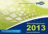 Entsorgungsplaner 2013 - Wolfsburger Abfallwirtschaft und ...