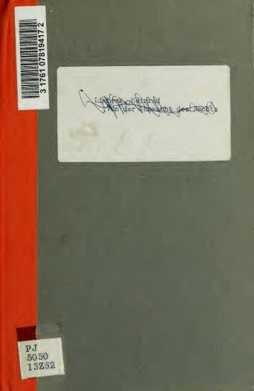 Salomo Gabirol und seine Dichtungen