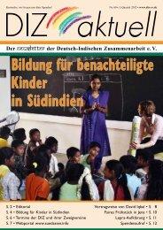 Bildung für benachteiligte Kinder in Südindien - Deutsch-Indische ...