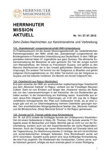HERRNHUTER MISSION AKTUELL - Herrnhuter Missionshilfe