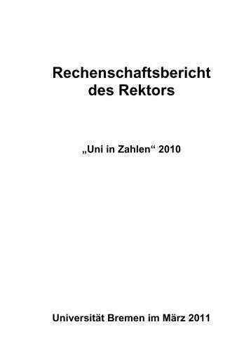 """Universität Bremen, """"Uni in Zahlen"""" 2010 - Referat 05 ..."""