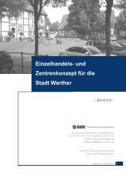 Einzelhandes- und Zentrenkonzept - Stadt Werther