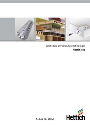 Leichtbau-Verbindungstechnologie Hettinject - Hettich