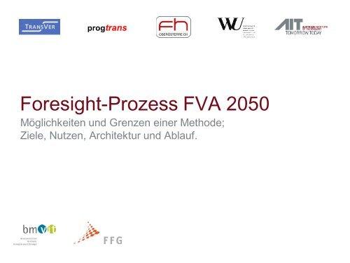Foresight-Prozess FVA 2050