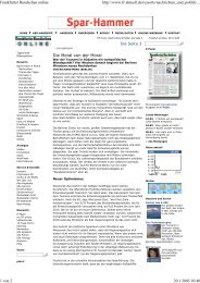 Frankfurter Rundschau online - UN Millennium Project